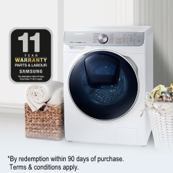 11 Year Warranty on WW8800 QuickDrive™ Washing Machines